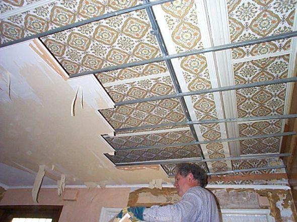 Работа с подвесными потолками из