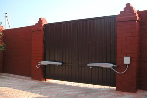 автоматические ворота фото