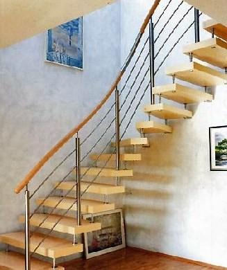 Чертеж лестницы для частного