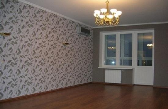 ремонт квартир фото зала обои