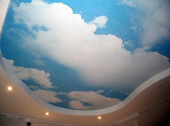 Небо на потолке своими руками фото