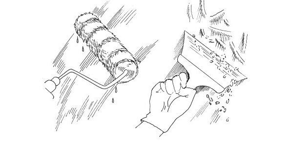 Как смыть потолок от побелки