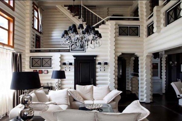 Квартира в чёрно-белом дизайне
