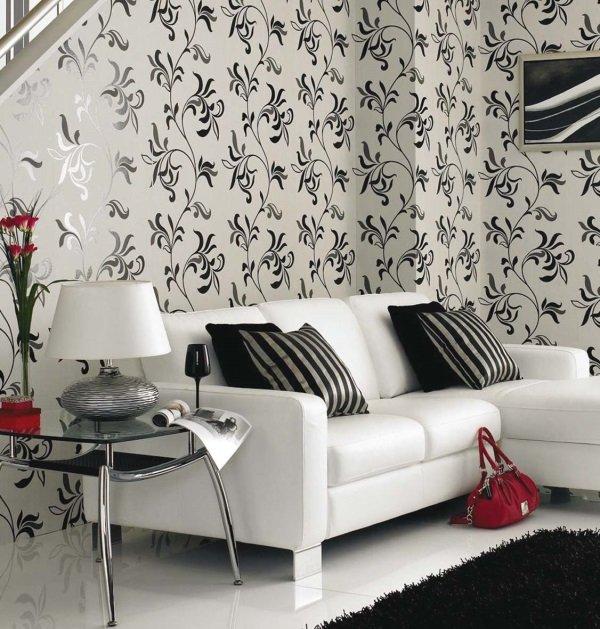 Гостиная в чёрно-белом стиле