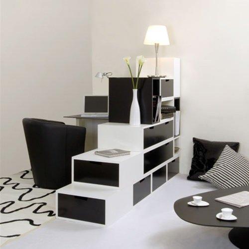 Интерьер в чёрно-белом стиле