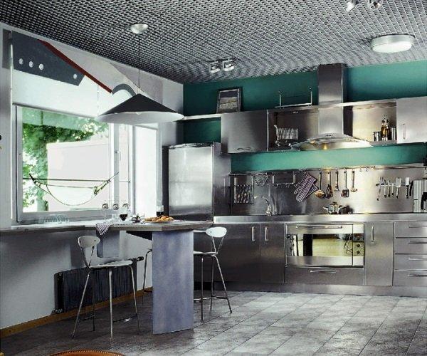 Стиль техно на кухне