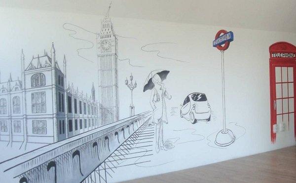 Роспись стен в квартир своими руками