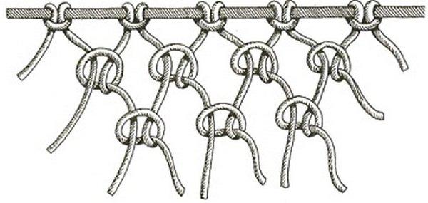 Как сплести сеть из веревки своими руками видео