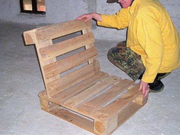 как сделать кресло из поддонов пошаговая инструкция - фото 11