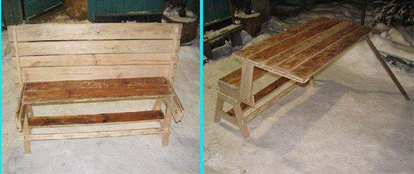 Стол скамейка трансформер из металла своими руками фото 976