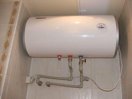 Сливание воды с помощью предохранительного клапана