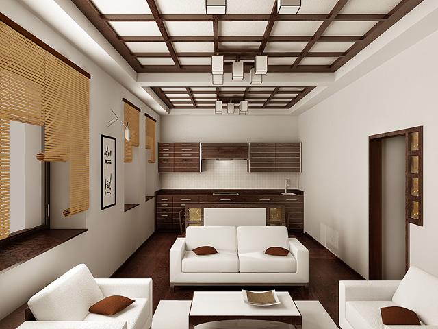 Дизайн гостиной японский стиль фото