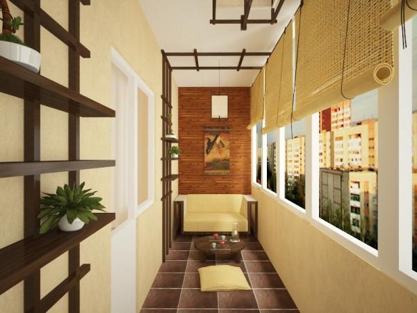 Балкон в японском стиле
